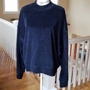Topshop Velour Sweater
